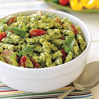 Recipe: Pesto Pasta Salad Ingredients Pesto: 3 cups packed fresh...
