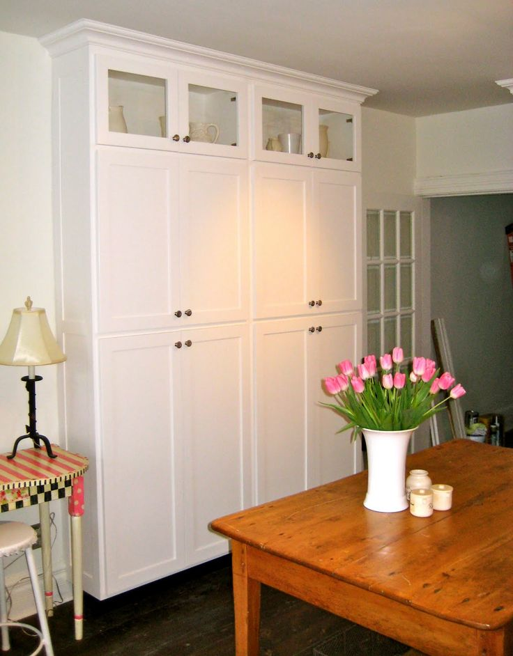 stand alone pantry cabinets   My pantry. I wanted a decent size pantry for storage of food and ...