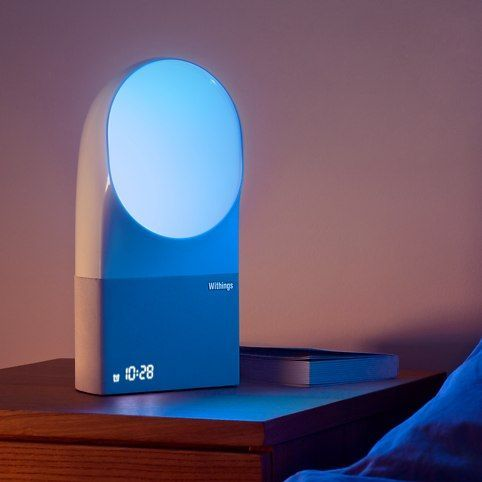 Ensure a blissful night's sleep with the innovative Withings Aura Smart Sleep System. The unique system combines environmental sensors, an active light and sound bedside device, and an easy-to-use mobile app (iOS) to improve your sleep quality. Withings Aura is a well thought-out active system designed to both monitor and improve sleep quality through the combined use of a contact-free Sleep Sensor tucked under the mattress, an active light and sound Bedside Device, and a smartphone app.