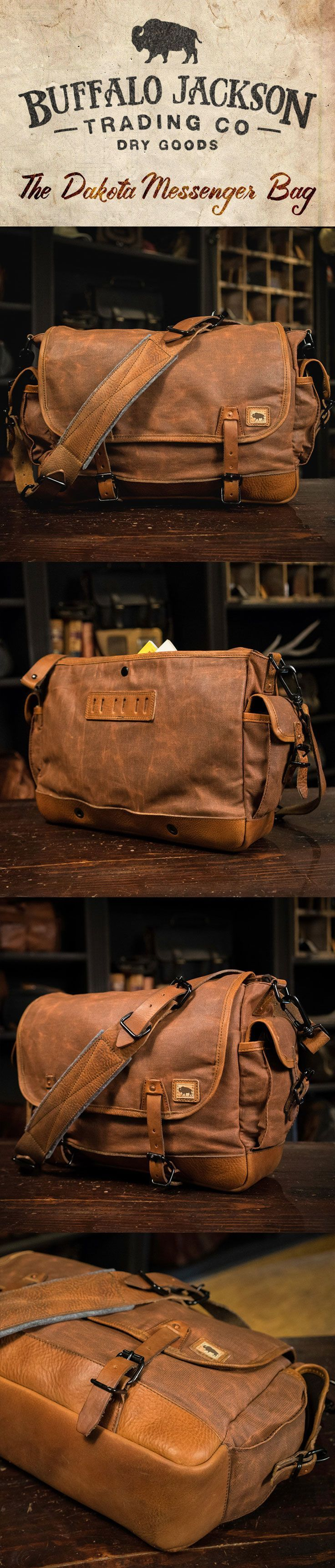 This traditional sized vintage military messenger bag is crafted from waxed canvas with leather accents. Perfect for your laptop, meeting materials, and your copy of Harrison & Kooser's Braided Creek (to read during your meeting). men's bags | leather | canvas | crossbody satchel