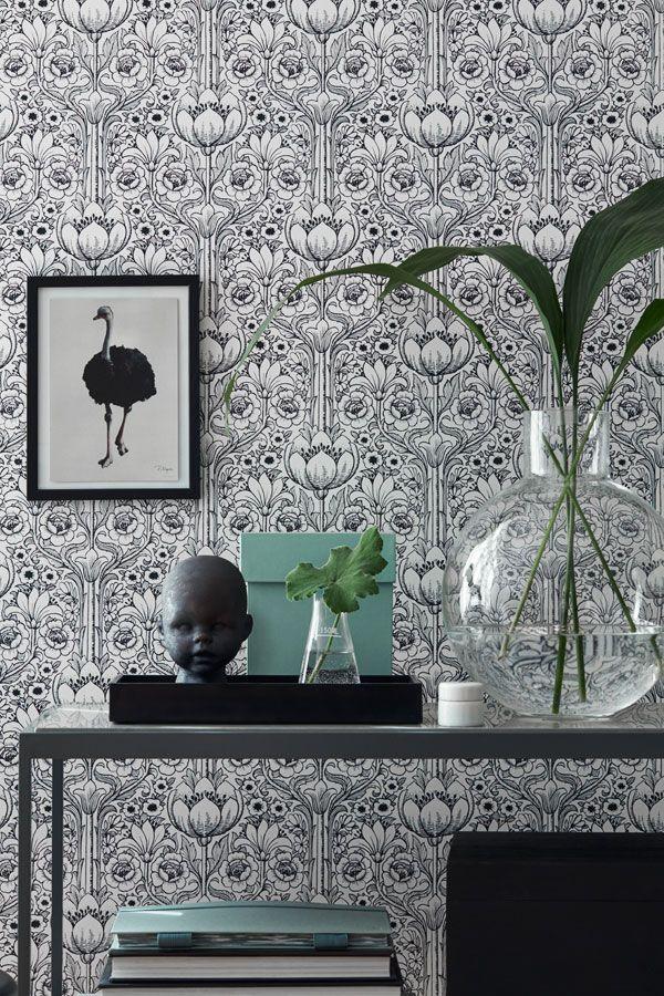 """Nya tapetkollektion """"Black & White"""" från Eco Wallpaper ‹ Dansk inredning och design"""