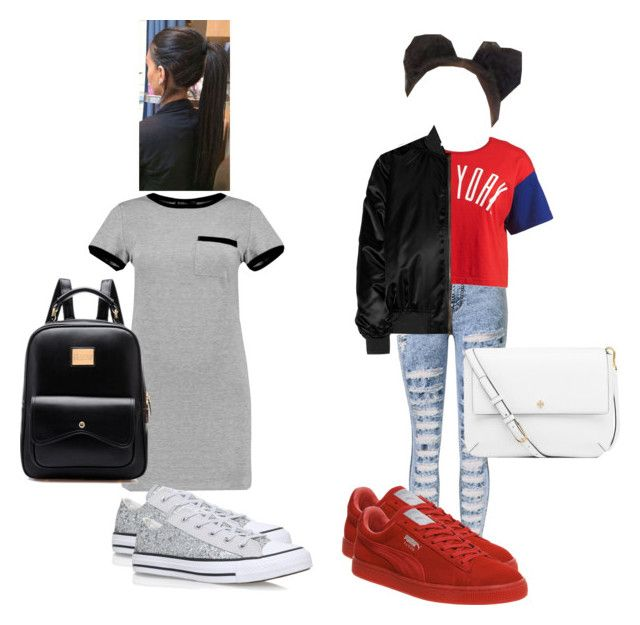 """Bestie Goals"" by miss-dimples ❤ liked on Polyvore featuring Boohoo, Converse, Chocoolate, Givenchy, Puma and Tory Burch"