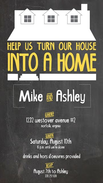 custom made house warming invitation by fairview place - House Party Invitation