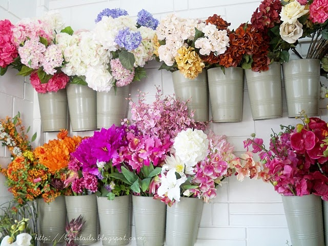 9 best craft room silk flower storage love images on pinterest clip on buckets hanging on wall to display flowers this is really cool maybe mightylinksfo
