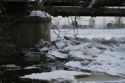 Nechako River Ice Jam, Prince George B.C.