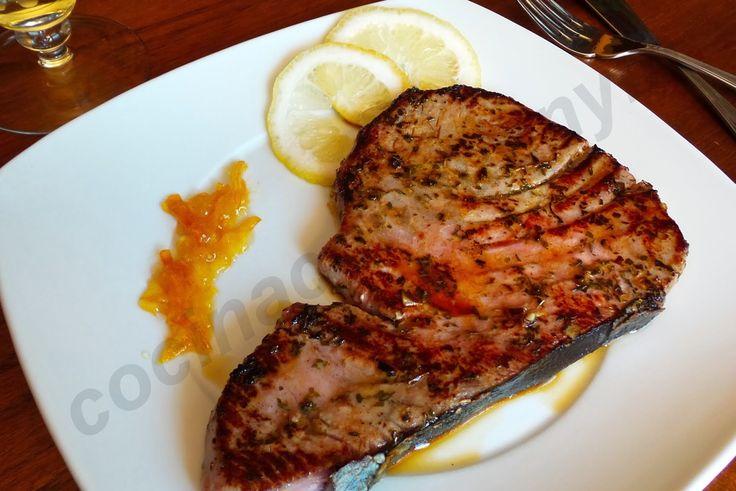 Cocina con Quenyin: Filete de atún marinado con limón, orégano y tomillo