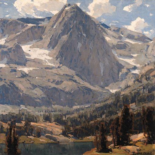 Edgar Payne (1882-1947). High Sierra Lake. Oil on canvas. 34 x 34 in (86.4 x 86.4cm)