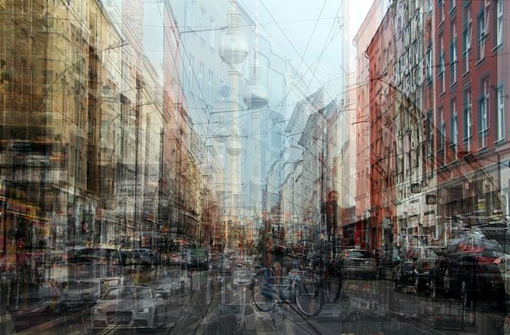 In his Urban Melodies series, photographer Alessio Trerotoli combines multiple exposures of cityscape scenes to create ghostly images that look like impressionist paintings...