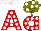 Dot Art Alphabet, fine motor, activities, bingo dauber, preschool, kindergarten, letter a
