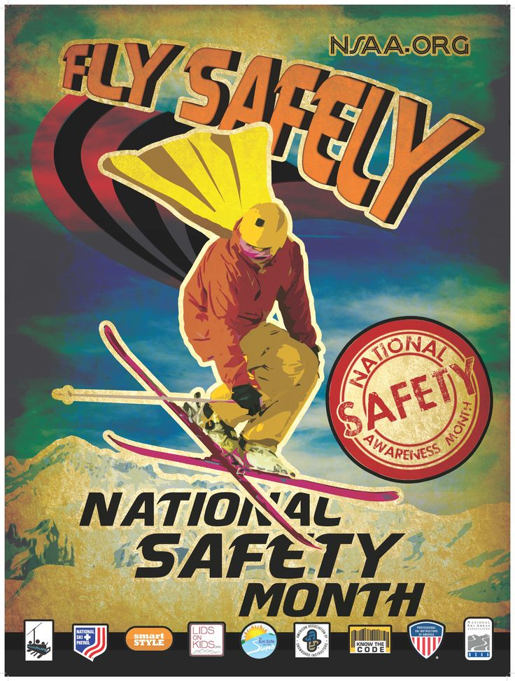 National Safety Week has now become National Safety Month!  Now the month of January will be dedicated to an entire month of safety.  Many Resorts across the country participate every year to educate skiers and snowboarders about being safe, and to use common sense on the slopes.  #NSAA