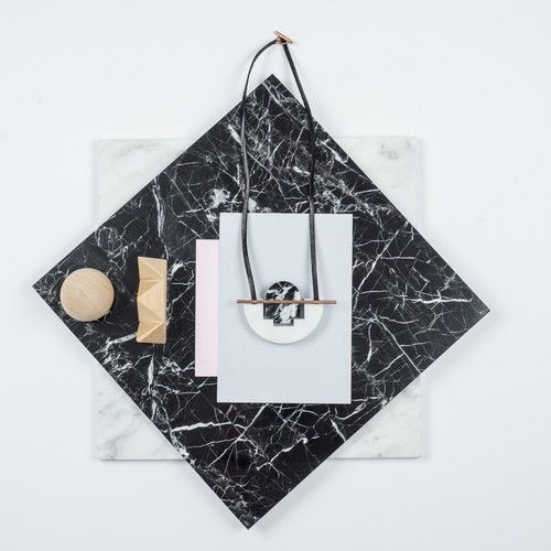 Rill Rill Necklace No 5 Black and White Marble | nana & bird - Only Curating What We Love