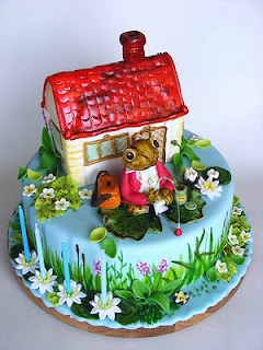bubolinkata Beatrix Potter cake