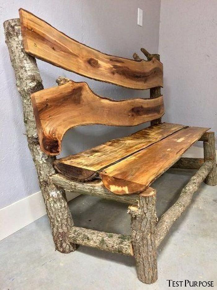 Woodworking Bench Rustic Furniture Log, Log Furniture Ideas