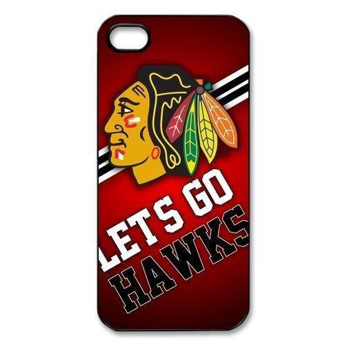 Chicago Blackhawks LET'S GO HAWKS Hard Cover Case for iphone 4/4s/5/5s/5c/6/6s/6plus/6s plus