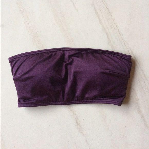 Purple bandeau bikini top  Literally LOVE this top but I've honestly just never worn it! Victoria's Secret and has a gorgeous back! Victoria's Secret Swim Bikinis