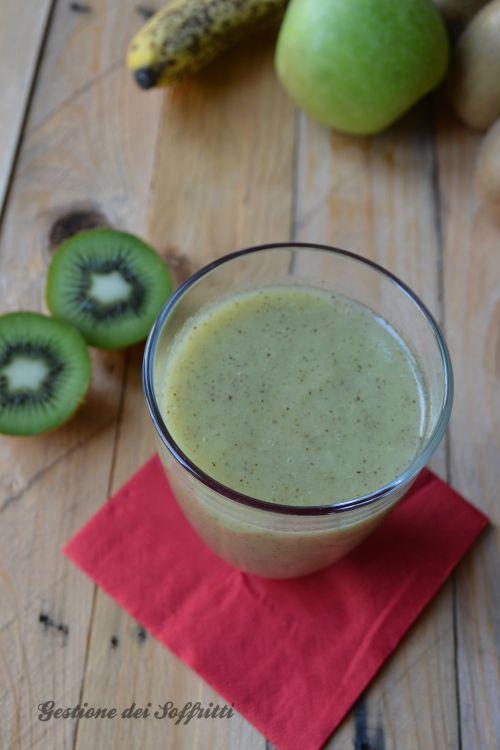 frullato verde kiwi banana, ricetta gestione dei soffritti