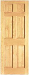 Wickes Durham Internal Softwood Door Clear Pine 6 Panel 1981x762mm