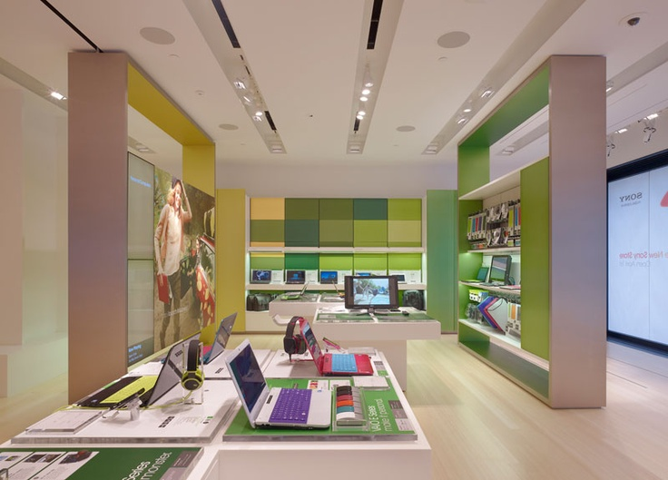 Sony Leap Merchandising Walls Westfield Century City Los Angeles The Flexible Store Layout In LayoutDesign LabInterior