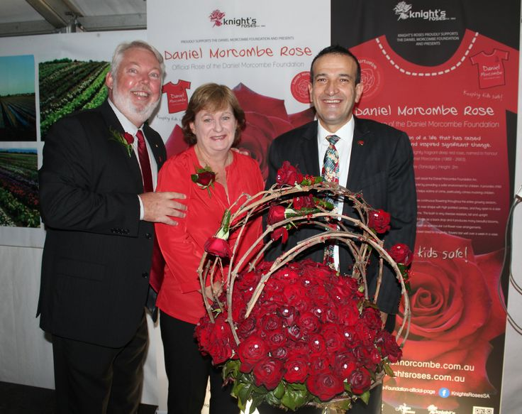 Denise and Bruce Morcombe with Tony Piccolo at the Launch of the Daniel Morcombe Rose