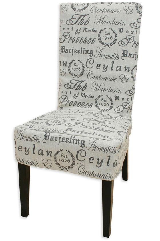 Parsons Chair Slipcover W/french Script