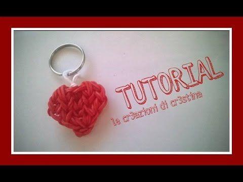 Tutorial Charm Cuore con Elastici RAINBOW LOOM - Heart charm - YouTube