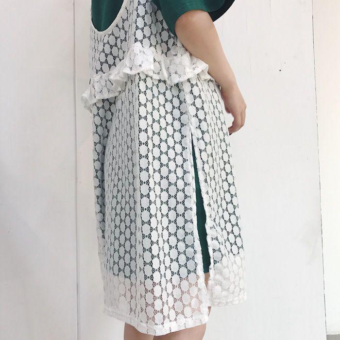Buy Tianne Set: Short-Sleeve T-Shirt Dress + Strappy Lace Dress | YesStyle