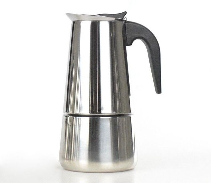 Stainless Steel Coffee Maker 2/4/6/9 Cups Counted Percolators Moka Pot Stove Top #Unbranded