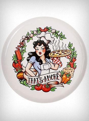 Rockabilly Tattoo Pizza Platter