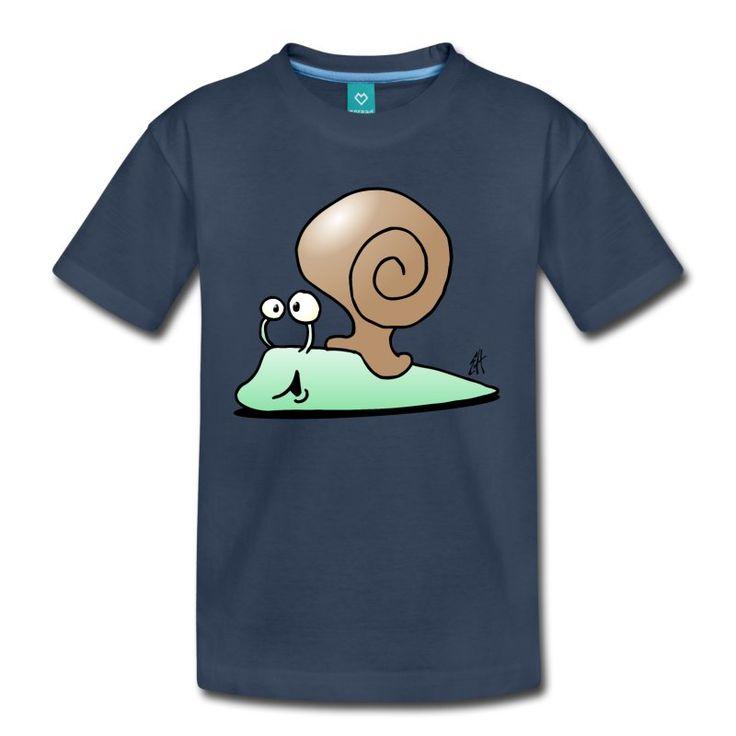 Slak T-shirt.  #snale #slak #tshirt #Spreadshirt #Cardvibes #Tekenaartje #SOLD