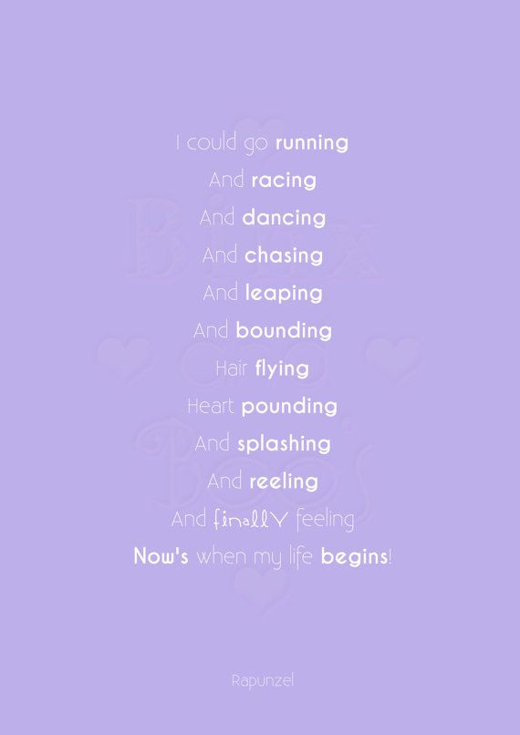 Disney Princess Word Art. Rapunzel Tangled Quote by BinxAndBoos, £3.99