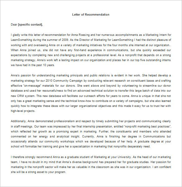 Recommendation Letter For Internship – 8+ Free Word, Excel, Pdf