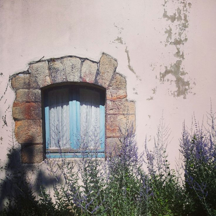 A little blue window.