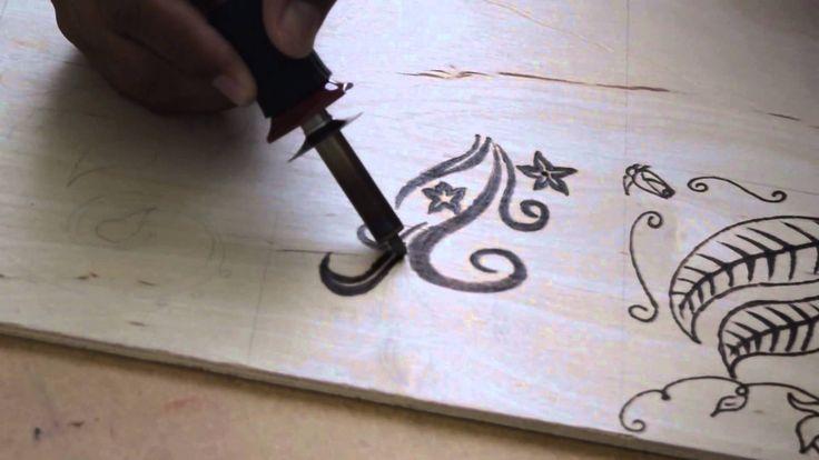 Pirografia en Madera Tutorial Para principiantes Pirograbado Paso a Paso