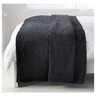 TUSENSKÖNA çift kişilik yatak örtüsü, koyu gri