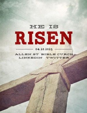 He is risen, death has been conquered! This bold religious Easter flyer is the perfect way to announce the upcoming remembrance of Jesus' death and the celebration of His victorious resurrection. #Sharefaith #Easter #EasterMedia #Faith #ChurchMedia #Flyer #HeIsRisen