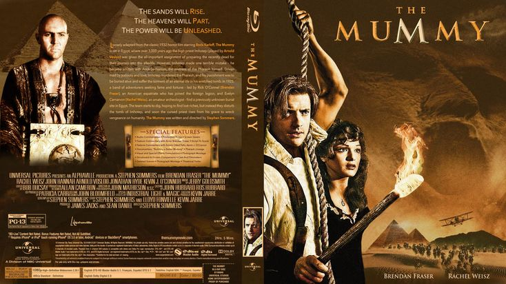 The Mummy 1999 Blu-ray Custom Cover