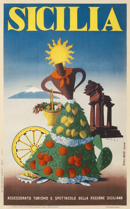Sicilia by Artist Unknown (1951) | Shop original vintage posters online: www.internationalposter.com