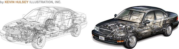 Photoshop Tutorial Site  Automotive & Technical Illustration Tutorials http://www.automotiveillustrations.com/tutorials/drawing-tutorials.html    Step-by-step drawing lessons & software tips for art students or illustrators