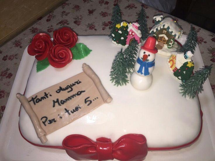 Torta di compleanno per un 50esimo in pasta di zucchero. Realizzata da me @cristian_deicco