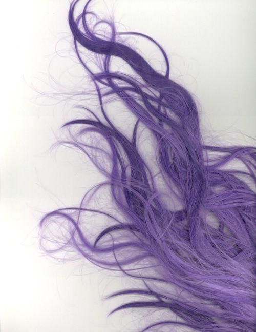 Long violet strands.