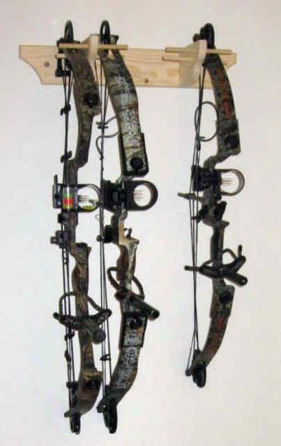 Vertical Bow Rack Wall  For Compound Bow's