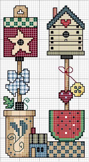 Schema punto croce Quadro Countriy 24