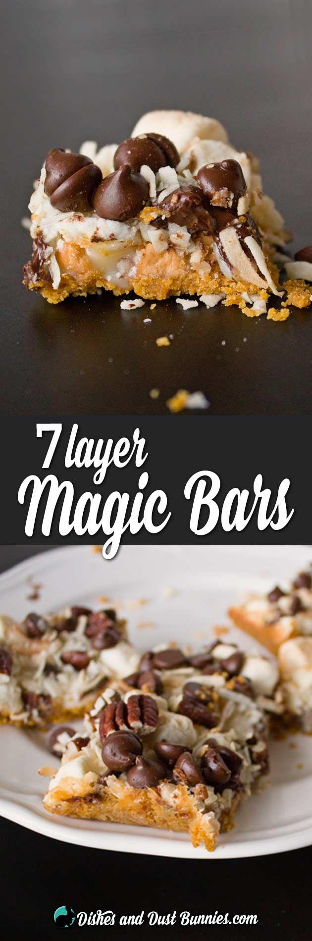 7 Layer Magic Bars from dishesanddustbunnies.com