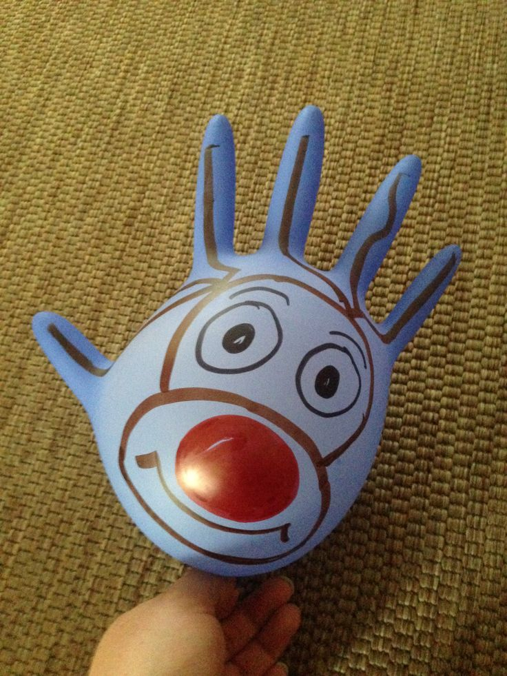 Rubber glove reindeer - now that's clever