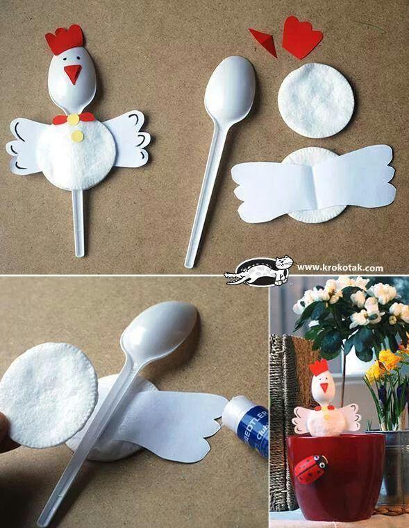 Idea riciclo cucchiaio  di plastica