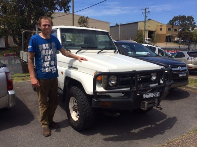Adam picking up his Toyota Landcruiser today