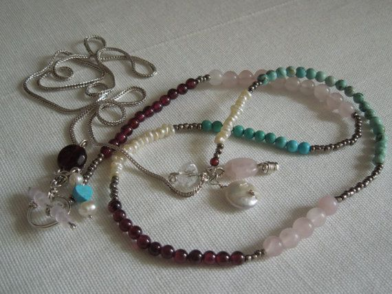 Extra Long / Multi Gem/Semi Precious  & by StellaMargaritis, $70.00