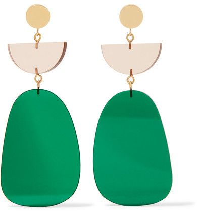 Isabel Marant - Gold-tone Acrylic Earrings - Green