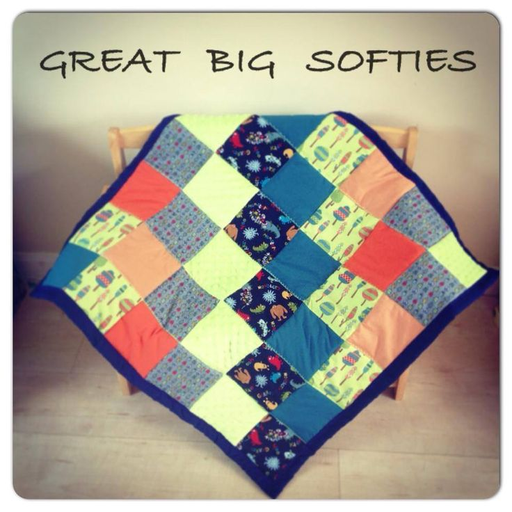 Play mat / Quilt with super soft minky squares added!! www ...