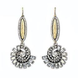 Vintage Retro Crystal Flower Earring